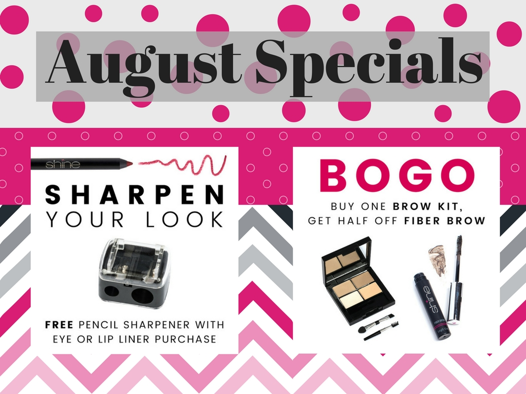 Shine Cosmetics August Specials