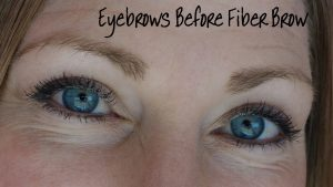 Eyebrows before Fiber Brow