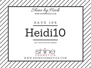 Shine Cosmetics Save 10%