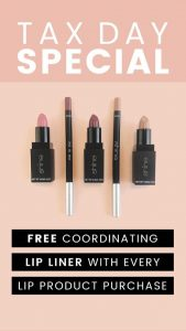 Shine Cosmetics Tax Day Special Free Lip Liner