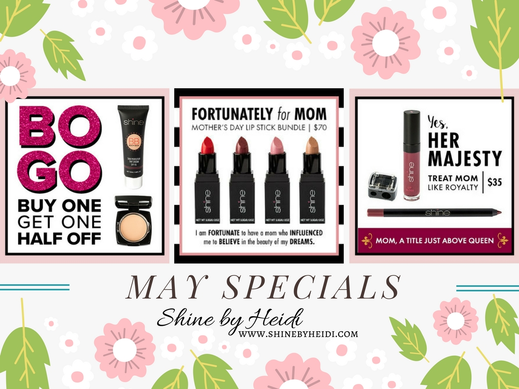 Shine Cosmetics May Specials