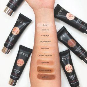 Shine Cosmetics BB Cream Swatches