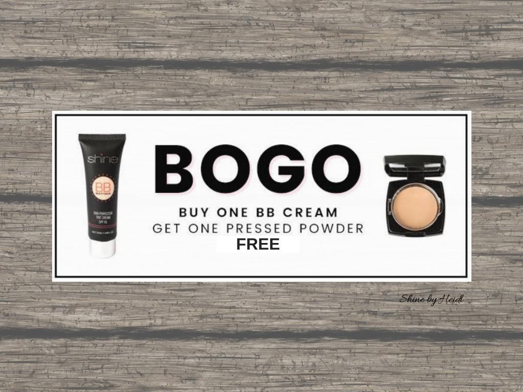 Shine Cosmetics BB Cream and Pressed Powder Sale