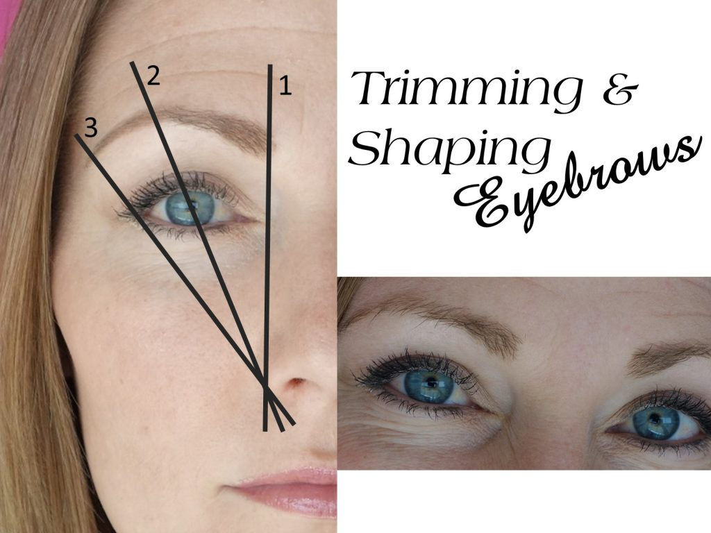 Trimming and Shaping Eyebrow